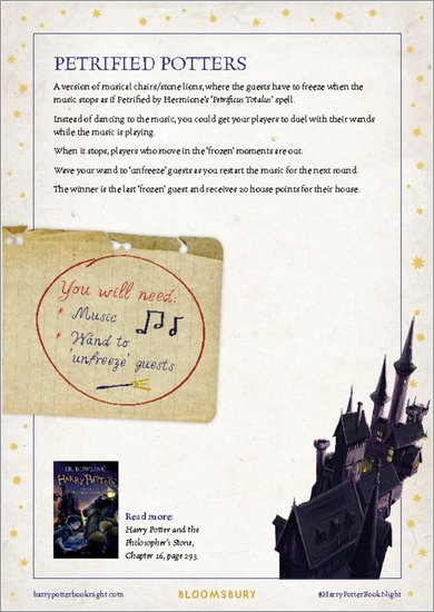 Harry Potter and the Philosopher's Stone - Petrified Potters Game