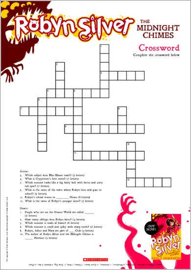Robyn Silver: The Midnight Chimes - Crossword