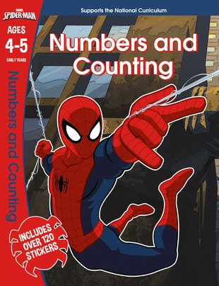 Spider-Man: Numbers and Counting, Ages 4-5