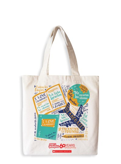 I Love Languages Cotton Tote Bag