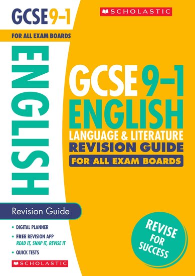 GCSE Grades 9-1: English Language and Literature Revision Guide for All Boards x 30