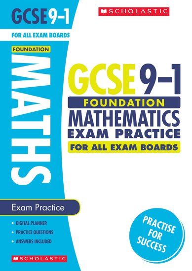 GCSE Grades 9-1: Foundation Maths Exam Practice Book for All Boards x 30