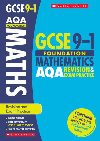 GCSE Grades 9-1: Foundation Maths AQA Revision and Exam Practice Book x 30
