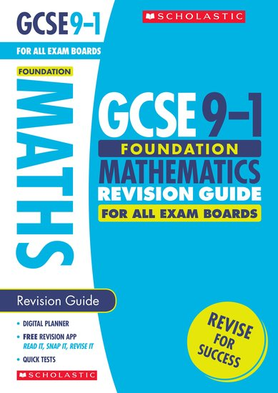 GCSE Grades 9-1: Foundation Maths Revision Guide for All Boards x 30