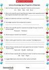 Science Knowledge Quiz: Properties of Materials