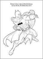 Batman Colouring Activity 3