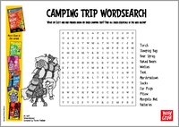 There's a Werewolf in My Tent! - camping trip wordsearch