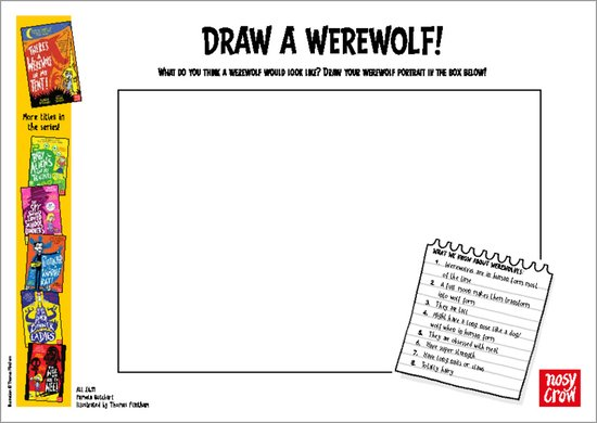 There's a Werewolf in My Tent! - draw a werewolf