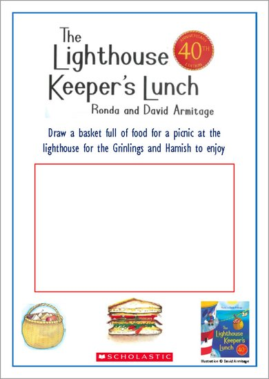 The Lighthouse Keeper's Lunch Drawing Picnic Food Activity
