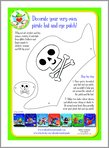 Aliens Love Underpants - Decorate Your Very Own Pirate Hat and Eye Patch! (1 page)