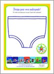 Aliens Love Underpants - Design Your Own Underpants! (1 page)