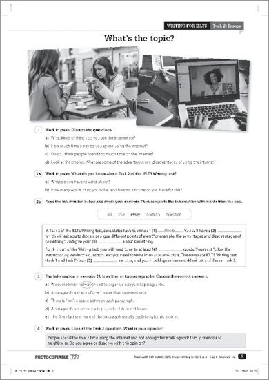 IELTS Starter Writing sample pages