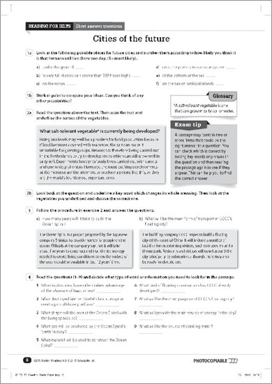 IELTS Starter Reading sample page