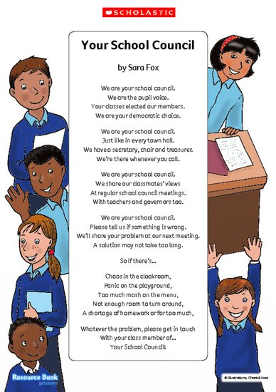 'Your School Council' - poem