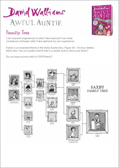 awful auntie family tree scholastic shop. Black Bedroom Furniture Sets. Home Design Ideas