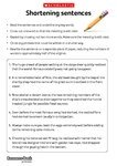 Shortening sentences worksheet