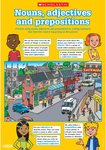 Nouns, adjectives and prepositions poster