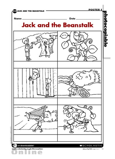Jack and the Beanstalk scenes
