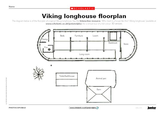 Viking longhouse floor plan