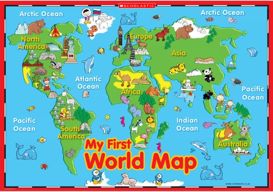 My first world map poster scholastic shop my first world map poster gumiabroncs Choice Image