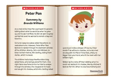 Peter Pan story sheet