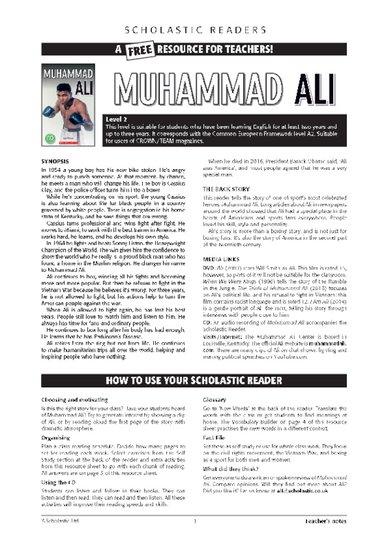 Muhammad Ali Teacher's Notes
