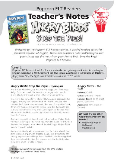 Angry Birds: Stop the Pigs! Teacher's Notes