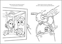 Finding Dory Colouring Sheet