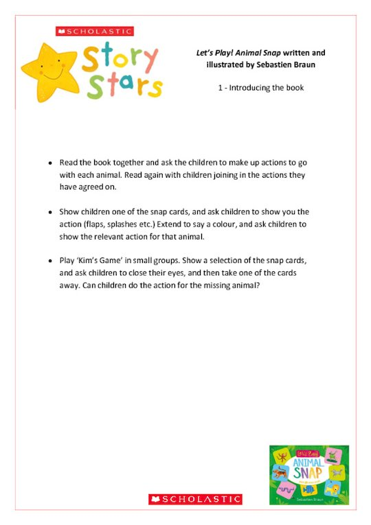 Story Stars Resource: Let's Play! Animal Snap Lesson Plan