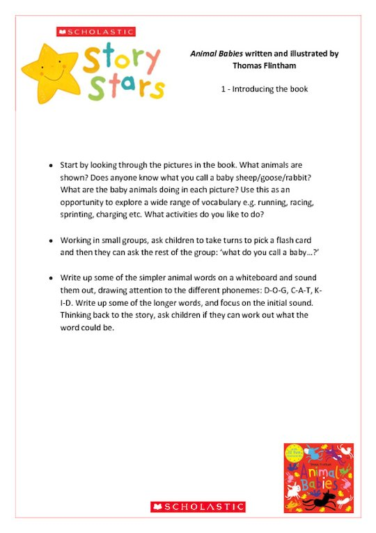 Story Stars Resource: Animal Babies Lesson Plan