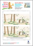 Little Beaver and Echo - Spot the difference (1 page)