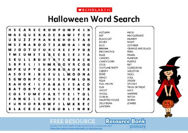 Halloween Word Search - Page 6 - fallcreekonline.org