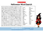 Halloween Word Search (1 page)