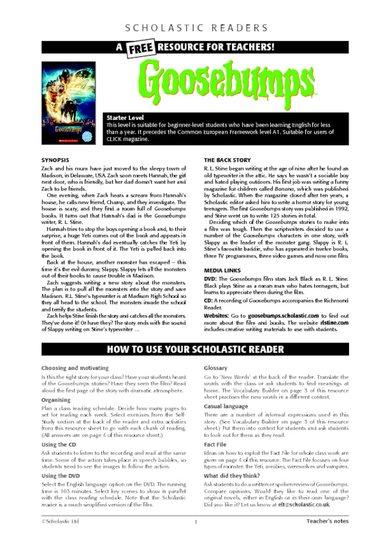 Goosebumps - Teacher's Notes