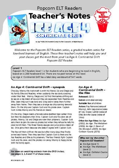 Ice Age 4: Continental Drift - Teacher's Notes