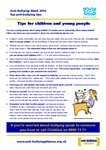 Anti-bullying week 2016 – Top tips (4 pages)