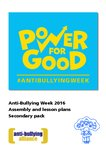 Anti-Bullying Week 2016 – Secondary Lesson and Assembly Plans (17 pages)