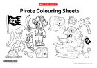 Pirate colouring sheets