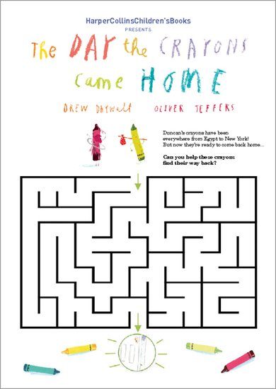 The Day the Crayons Came Home - Maze