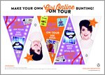 Girl Online: On Tour - Bunting (1 page)