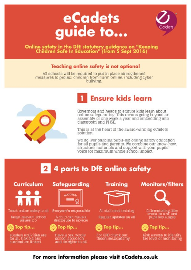 eCadets DfE guide