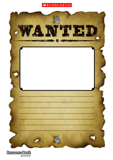 Wanted Poster Template  Primary Ks  Ks Teaching Resource