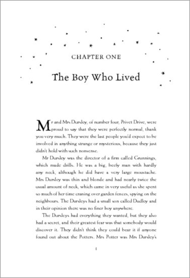 Harry Potter Book Extract ~ Harry potter and the philosopher s stone extract
