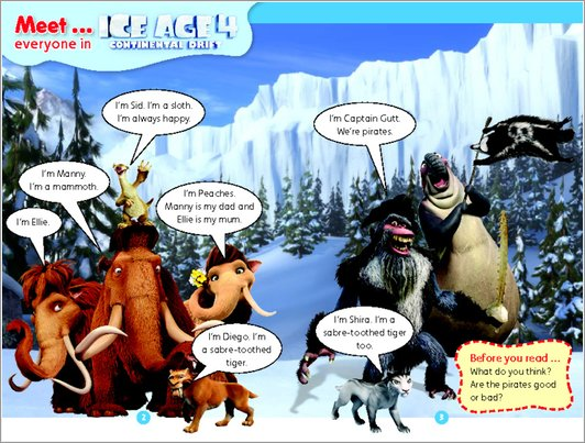 Ice Age 4: Continental Drift - Sample Page