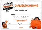 Captain Firebeard's School for Pirates - Certificate (1 page)