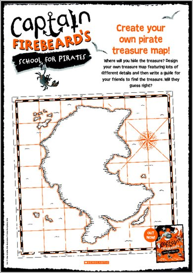 Captain Firebeard Activity Sheet - Treasure Map