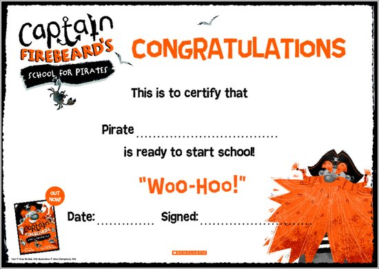 Captain Firebeard's School for Pirates - Certificate