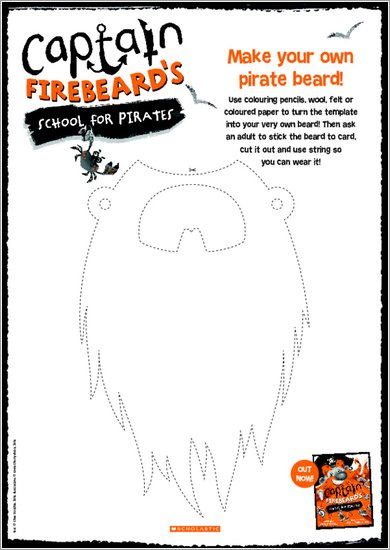 Captain Firebeard Activity Sheet - Pirate Beard