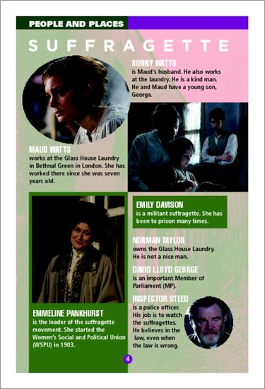Suffragette - People and Places Sample Page