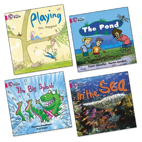 Big Cat Readers Pack: Book Band Pink 1B x 4